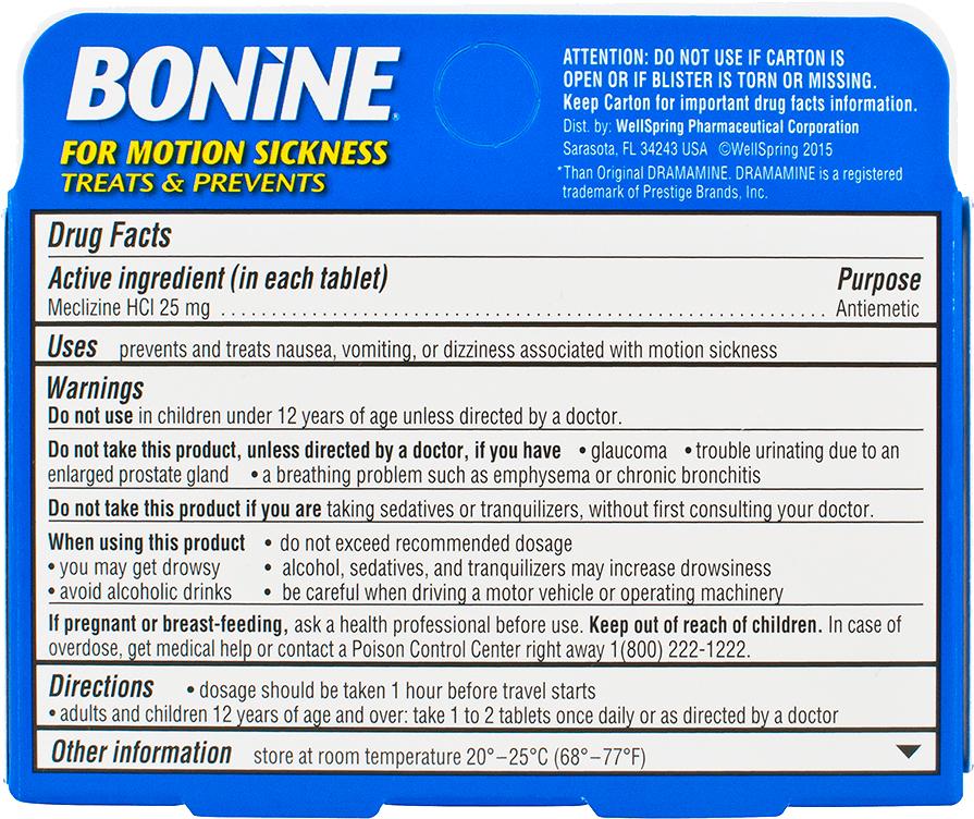 BONINE<sup>®</sup> TABLETS